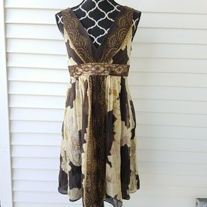 Gorgeous Adrianna Papell Brown Sundress sz 8